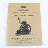 Lister Petrol & Paraffin Engine Manual for H, J, K, L, M, N, P, R, Q & Twins