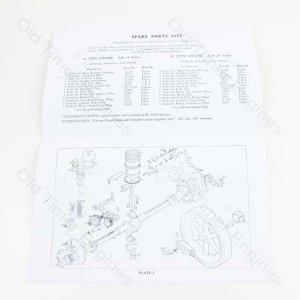 Lister A & AK, B & BK Instruction Manual & Parts List (Reprint)