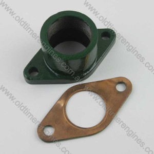 Lister CS Exhaust Flange & Copper Gasket